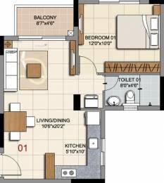 664 sqft, 1 bhk Apartment in Ozone Prime Devanahalli, Bangalore at Rs. 0
