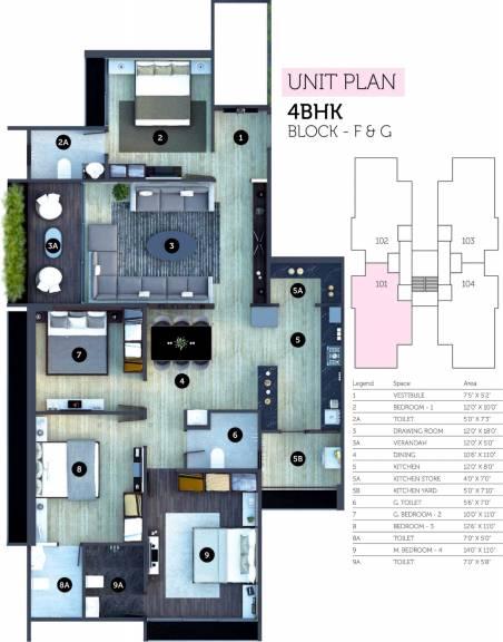 1378 sqft, 4 bhk Apartment in Sheetal Westpark Residency Vastrapur, Ahmedabad at Rs. 0