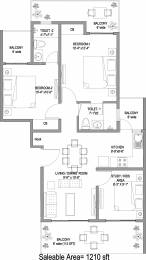 1210.02 sqft, 2 bhk Apartment in Central Park Cerise Floors Sector 33 Sohna, Gurgaon at Rs. 0