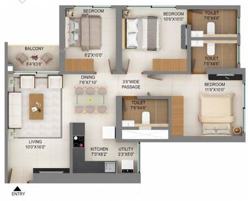 786.84 sqft, 3 bhk Apartment in Shapoorji Pallonji Mumbai Dreams Mulund West, Mumbai at Rs. 0