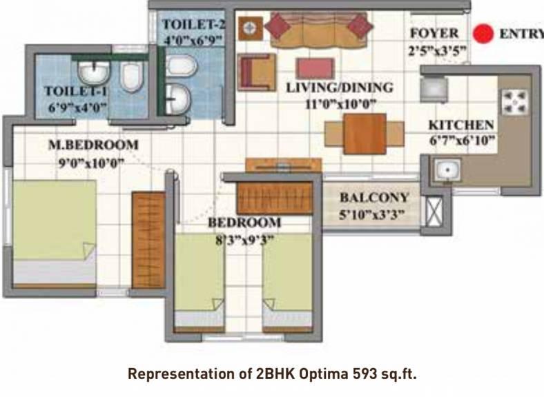 593 sqft, 2 bhk Apartment in Shriram Divine City Mangadu, Chennai at Rs. 0