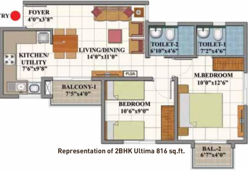 816 sqft, 2 bhk Apartment in Shriram Divine City Mangadu, Chennai at Rs. 0