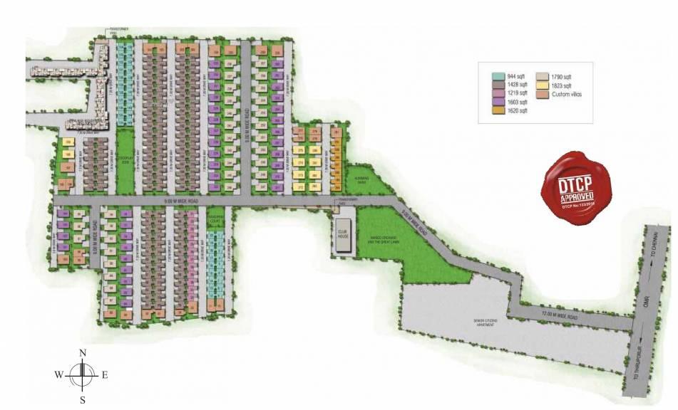 1428 sqft, 3 bhk Villa in Alliance Humming GardensVillas Thaiyur, Chennai at Rs. 0