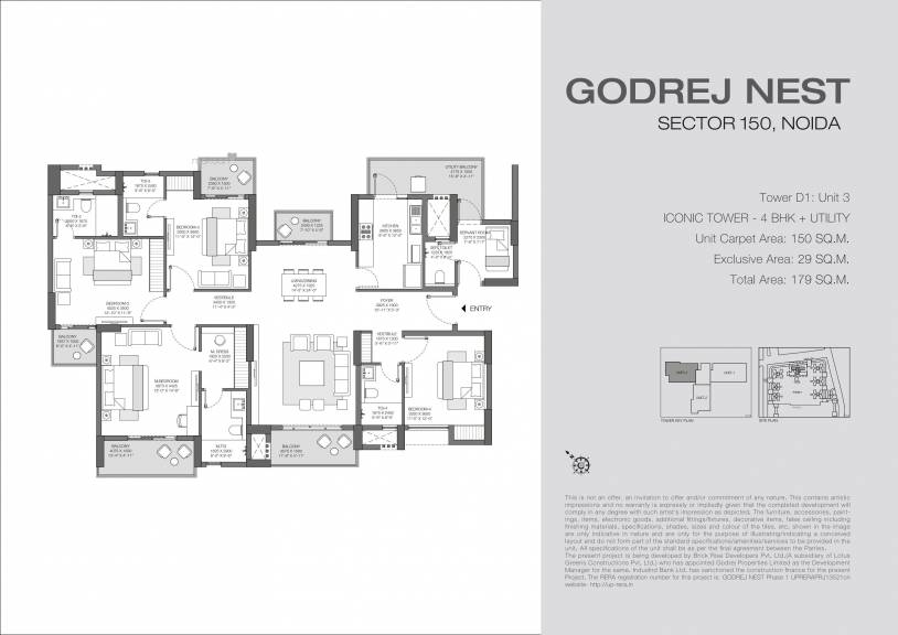 1926.74 sqft, 4 bhk Apartment in Godrej Solitaire at Godrej Nest Sector 150, Noida at Rs. 0