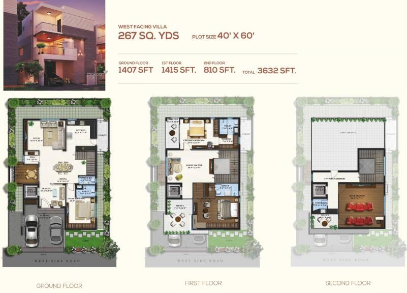 3632 sqft, 4 bhk Villa in Magna Majestic Meadows Kollur, Hyderabad at Rs. 0