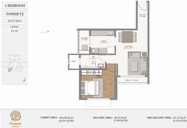 462.2 sqft, 1 bhk Apartment in Piramal Revanta Tower 2 Mulund West, Mumbai at Rs. 0
