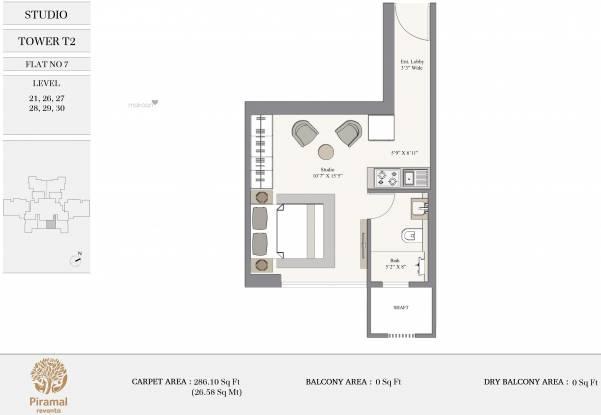 423.67 sqft, 1 bhk Apartment in Piramal Revanta Tower 2 Mulund West, Mumbai at Rs. 0