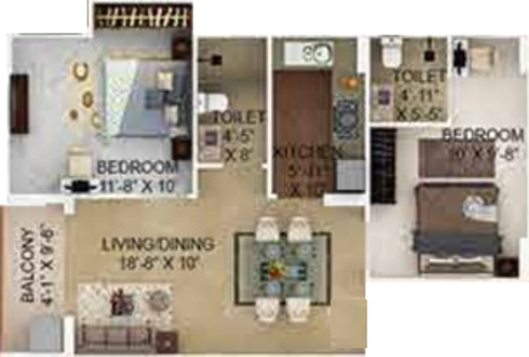 912 sqft, 2 bhk Apartment in Merlin Verve Tollygunge, Kolkata at Rs. 0