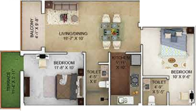 933 sqft, 2 bhk Apartment in Merlin Verve Tollygunge, Kolkata at Rs. 0