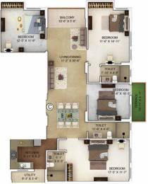 2011 sqft, 4 bhk Apartment in Merlin Verve Tollygunge, Kolkata at Rs. 0