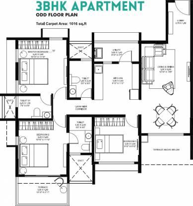 842.17 sqft, 3 bhk Apartment in Oxford Florida River Walk Phase 1 Mundhwa, Pune at Rs. 0