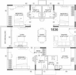 1836 sqft, 3 bhk Apartment in Ashoka Lake Side Manikonda, Hyderabad at Rs. 0