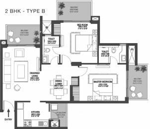 1366 sqft, 2 bhk Apartment in Godrej Meridien Sector 106, Gurgaon at Rs. 0
