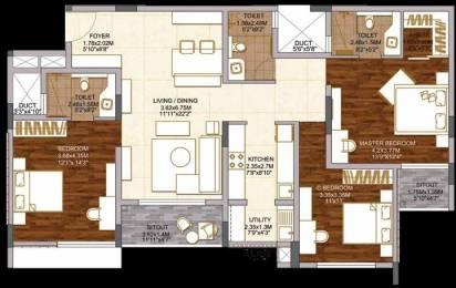 1768 sqft, 3 bhk Apartment in Brigade Woods ITPL, Bangalore at Rs. 0
