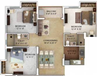 1260 sqft, 3 bhk Apartment in Merlin Verve Tollygunge, Kolkata at Rs. 0