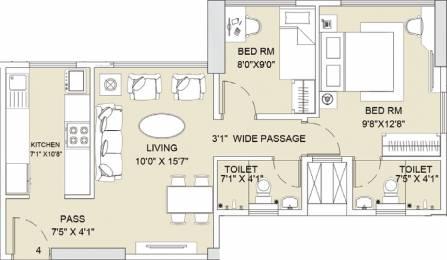 1088 sqft, 2 bhk Apartment in Sunteck City Avenue 2 Goregaon West, Mumbai at Rs. 0