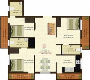 1236 sqft, 3 bhk Apartment in Fifth Xanadu Mogappair, Chennai at Rs. 0