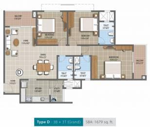 1679 sqft, 3 bhk Apartment in Purva Palm Beach Narayanapura on Hennur Main Road, Bangalore at Rs. 0