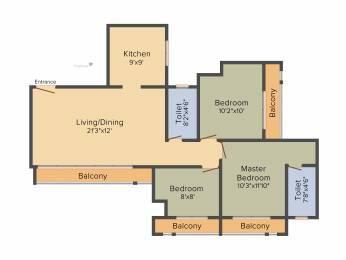 1315 sqft, 3 bhk Apartment in Runwal Eirene Thane West, Mumbai at Rs. 0