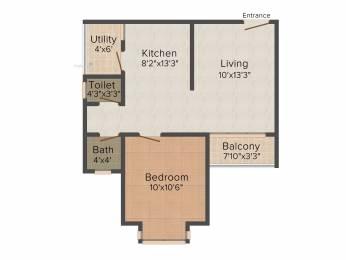 634 sqft, 1 bhk Apartment in Godrej Prana Undri, Pune at Rs. 0