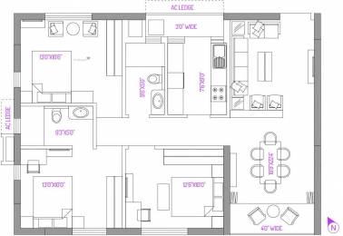 1421 sqft, 3 bhk Apartment in PS Panache Salt Lake City, Kolkata at Rs. 0