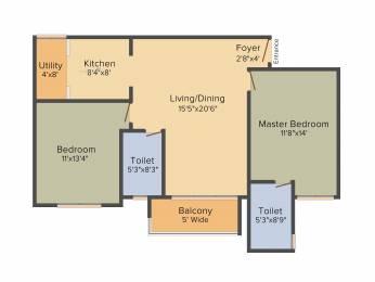1152 sqft, 2 bhk Apartment in Prestige Kew Gardens Bellandur, Bangalore at Rs. 0
