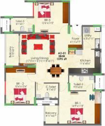 1595 sqft, 3 bhk Apartment in SNN Raj Greenbay Electronic City Phase 2, Bangalore at Rs. 0