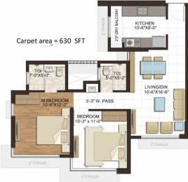 640 sqft, 2 bhk Apartment in Wadhwa Atmosphere Phase 1 Mulund West, Mumbai at Rs. 0