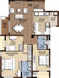 1543 sqft, 2 bhk Apartment in Akshaya Tango Thoraipakkam OMR, Chennai at Rs. 0