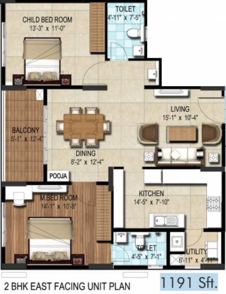 1191 sqft, 2 bhk Apartment in DSR Waterscape Horamavu, Bangalore at Rs. 0