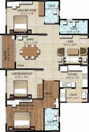 1548 sqft, 3 bhk Apartment in DSR Waterscape Horamavu, Bangalore at Rs. 0