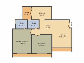 1100 sqft, 2 bhk Apartment in Gala Celestia Near Nirma University On SG Highway, Ahmedabad at Rs. 0