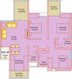 1245 sqft, 3 bhk Apartment in Mantra Insignia Mundhwa, Pune at Rs. 0