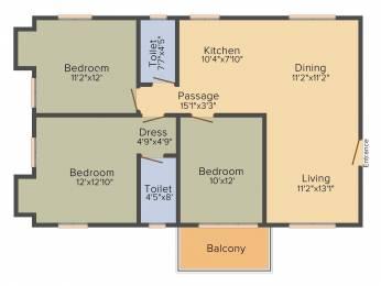 1421 sqft, 3 bhk Apartment in Sugam Habitat Picnic Garden, Kolkata at Rs. 0