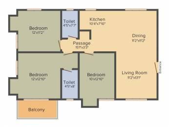1433 sqft, 3 bhk Apartment in Sugam Habitat Picnic Garden, Kolkata at Rs. 0