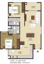 1270 sqft, 2 bhk Apartment in Brigade Xanadu Mogappair, Chennai at Rs. 0