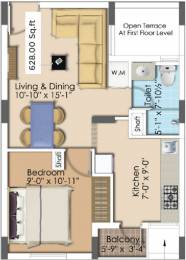 628 sqft, 1 bhk Apartment in Sapthrishi asta AVM Vadapalani, Chennai at Rs. 0