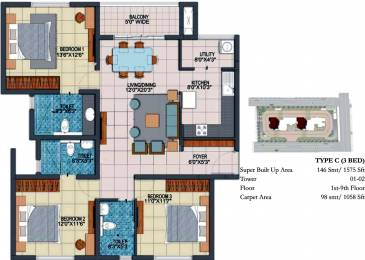 1575 sqft, 3 bhk Apartment in Prestige Fontaine Bleau Whitefield Hope Farm Junction, Bangalore at Rs. 0