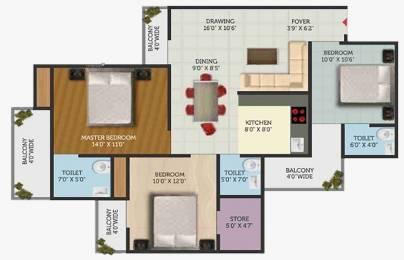 1635 sqft, 3 bhk Apartment in Builder Project Chhawla, Delhi at Rs. 68.6700 Lacs