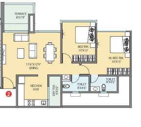 1151 sqft, 2 bhk Apartment in Pharande Woodsville Phase III Moshi, Pune at Rs. 57.0000 Lacs