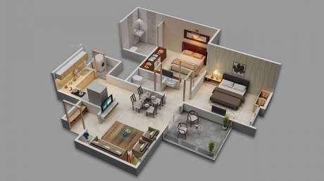 1070 sqft, 1 bhk Apartment in Majestique Towers East Kharadi, Pune at Rs. 60.0000 Lacs