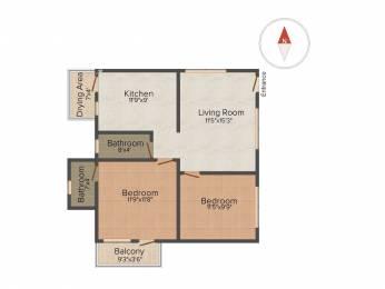928 sqft, 2 bhk Apartment in Vivegam Aishwaryam Flats Urapakkam, Chennai at Rs. 31.5600 Lacs