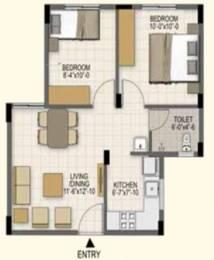 587 sqft, 2 bhk Apartment in Akshaya Earth Tiruporur Near Kelambakkam, Chennai at Rs. 20.2000 Lacs