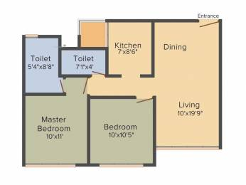 1360 sqft, 2 bhk Apartment in Pacifica North Enclave Near Vaishno Devi Circle On SG Highway, Ahmedabad at Rs. 48.1723 Lacs