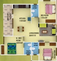 1288 sqft, 3 bhk Apartment in DS DSMAX SPARKLE NEST Narayanapura on Hennur Main Road, Bangalore at Rs. 51.5200 Lacs