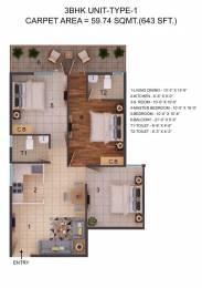 746 sqft, 2 bhk Apartment in ROF Amaltas Sector 92, Gurgaon at Rs. 26.2216 Lacs