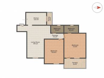 1050 sqft, 2 bhk Apartment in Builder Project Wanwadi, Pune at Rs. 75.0000 Lacs