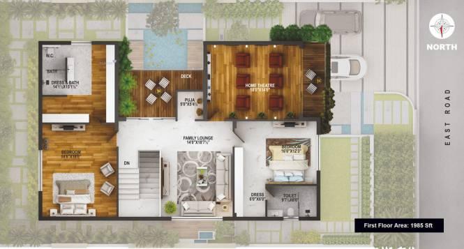 3910 sqft, 3 bhk Villa in EIPL La Paloma Villas Mokila, Hyderabad at Rs. 2.3000 Cr
