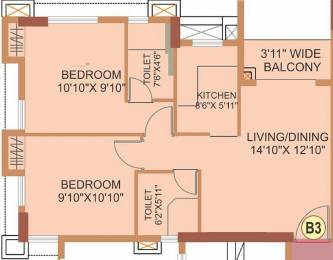 688 sqft, 1 bhk Apartment in Eden The Forest Dum Dum, Kolkata at Rs. 49.6440 Lacs