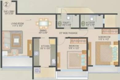 525 sqft, 1 bhk Apartment in UK Iridium Kandivali East, Mumbai at Rs. 79.5000 Lacs